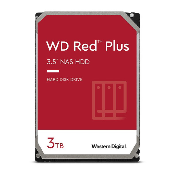Western Digital WD WD30EFZX 3TB Red Plus 3.5in IntelliPower 5400RPM SATA NAS Hard Drive Main Product Image