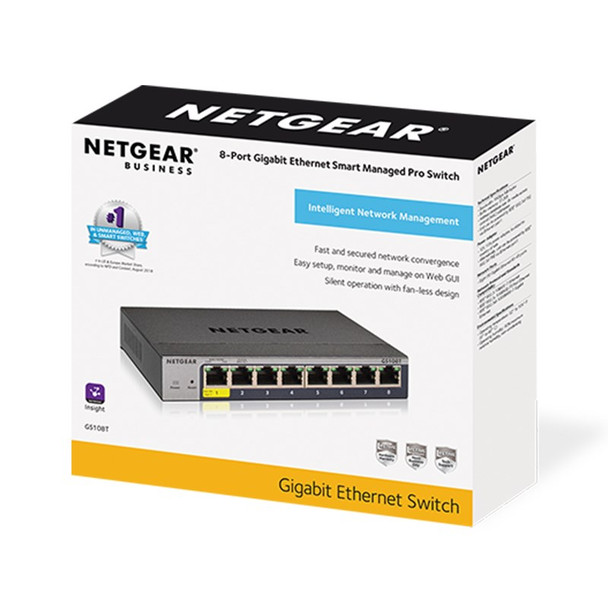 Netgear 8-Port Gigabit Ethernet Smart Switch with Cloud Management Product Image 2