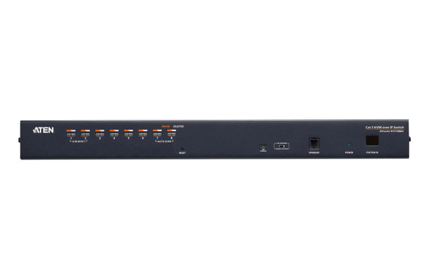 Aten 1-Console High Density Cat 5 KVM Over IP 8 Port with Daisy-Chain Port - supports 1920x1200 up to 30m on supported adapters - KVM Adapters not included Product Image 2