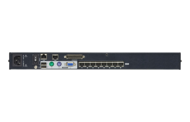 Aten 1-Console High Density Cat 5 KVM Over IP 8 Port with Daisy-Chain Port - supports 1920x1200 up to 30m on supported adapters - KVM Adapters not included Product Image 3