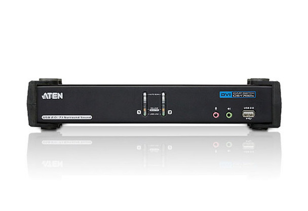 Aten 2 Port USB 2.0 DVI Dual Link KVMP Switch - supports up to 2560 x 1600 @ 60 Hz with Dual Link DVI Product Image 2