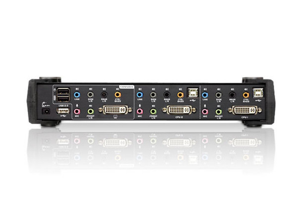 Aten 2 Port USB 2.0 DVI Dual Link KVMP Switch - supports up to 2560 x 1600 @ 60 Hz with Dual Link DVI Product Image 3