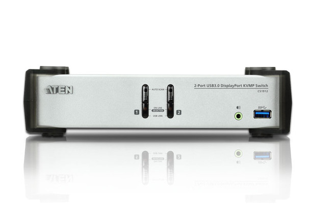Aten 2 Port USB 3.0 4K DisplayPort KVMP Switch - supports up to 3840  2160 @ 30Hz Product Image 2