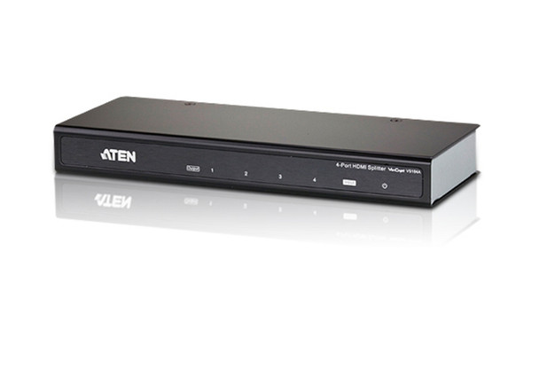 Aten 4 Port 4K HDMI Splitter - supports up to 4096 x 2160 / 3840 x 2160 @ 60Hz (4:2:0) and 4096 x 2160 / 3840 x 2160 @ 30Hz (4:4:4) Main Product Image