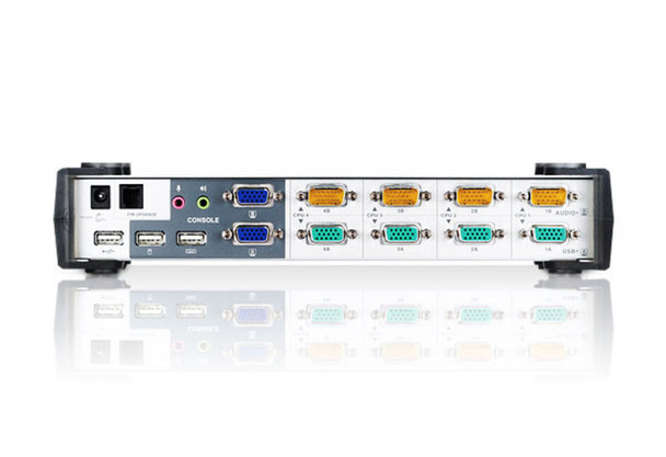 Aten 4 Port Dual View VGA KVM Switch with audio - includes 4 VGA USB KVM Cables and 4 VGA Audio KVM Cables included Product Image 3