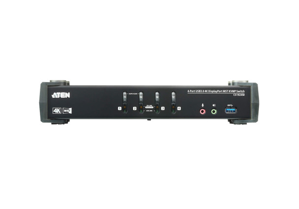 Aten 4 Port USB 3.0 4K DisplayPort KVMP Switch with built in MST Hub HDMI output and 1 DP outpu Product Image 2