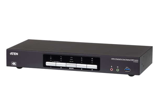 Aten 4 Port USB 3.0 4K Dual DisplayPort KVMP Switch  - Quad display by connecting two CS1944DP units Main Product Image