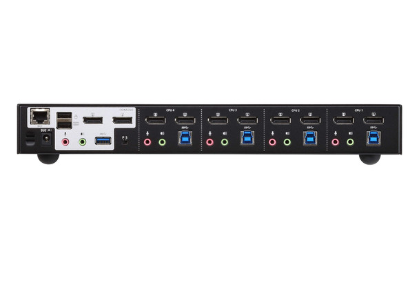 Aten 4 Port USB 3.0 4K Dual DisplayPort KVMP Switch  - Quad display by connecting two CS1944DP units Product Image 3