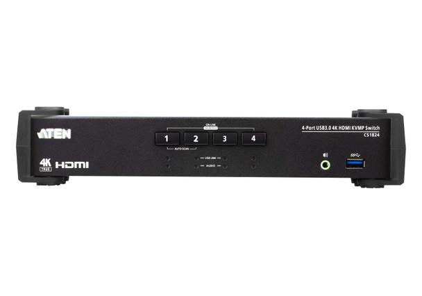 Aten 4 Port USB 3.0 4K HDMI KVMP Switch - Video DynaSync - switching via RS-232 Product Image 2