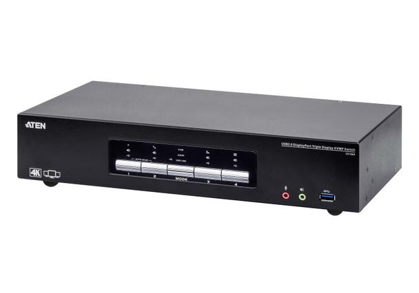 Aten 4 Port USB 3.0 4K Triple DisplayPort KVMP Switch - supports up to 4096 x 2160 @ 60 Hz Main Product Image