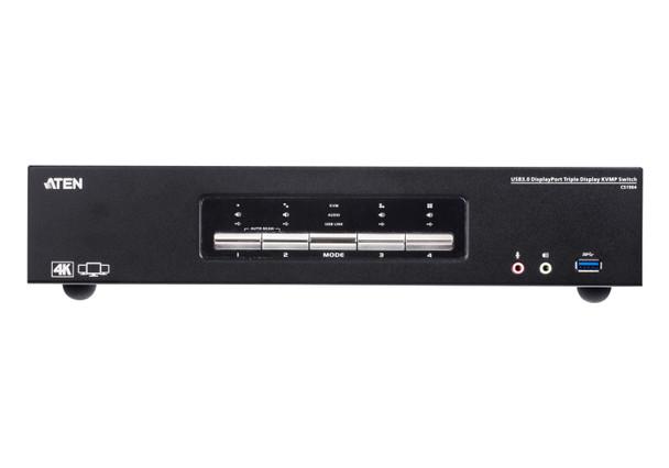 Aten 4 Port USB 3.0 4K Triple DisplayPort KVMP Switch - supports up to 4096 x 2160 @ 60 Hz Product Image 2