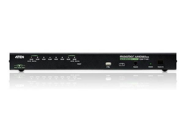 Aten 8 Port PS/2-USB 2.0 KVMP Switch over IP - 1 VGA USB KVM Cable - 1 VGA PS/2 KVM Cable included Product Image 2