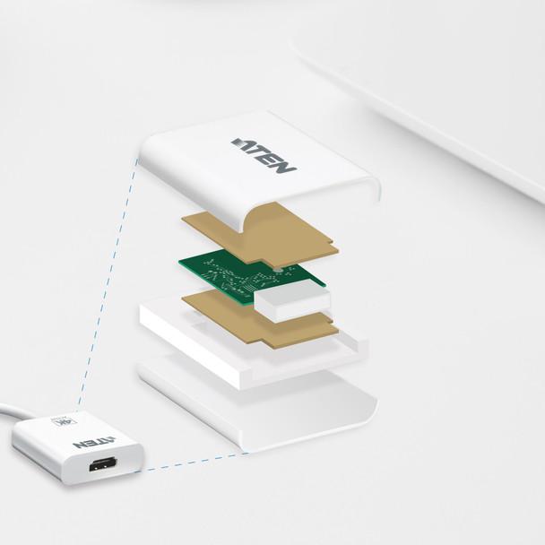 Aten Mini DisplayPort(M) to HDMI(F) Active 4K2K Adapter -Premium series with EMI Shielding Product Image 2