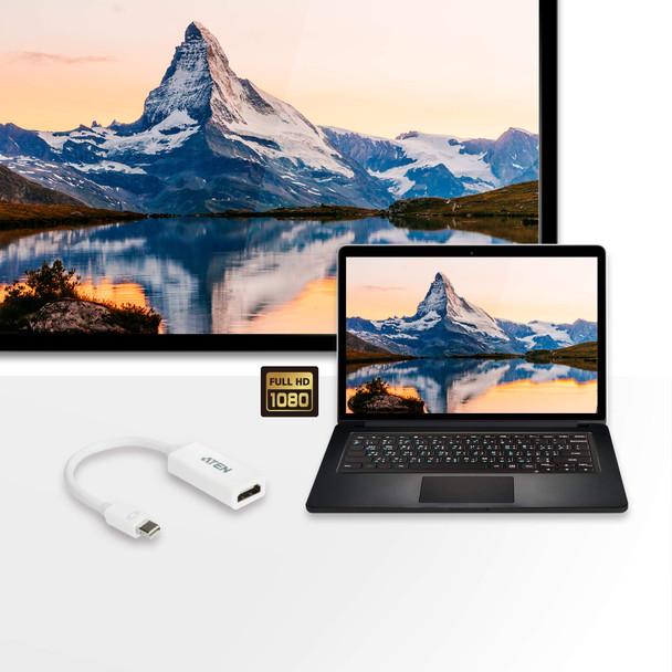 Aten Mini DisplayPort(M) to HDMI(F) Adapter -Premium series with EMI Shielding Product Image 2