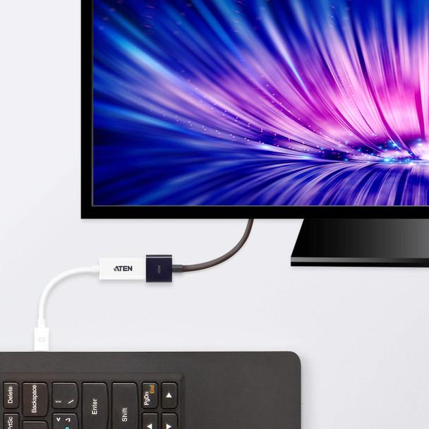 Aten Mini DisplayPort(M) to HDMI(F) Adapter -Premium series with EMI Shielding Product Image 3