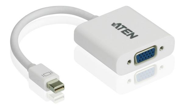 Aten Mini DisplayPort(M) to VGA(F) Adapter -Premium series with EMI Shielding Main Product Image