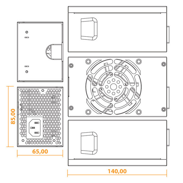 Seasonic SSP-300TGS Active PFC TFX 300W Power Supply Product Image 5