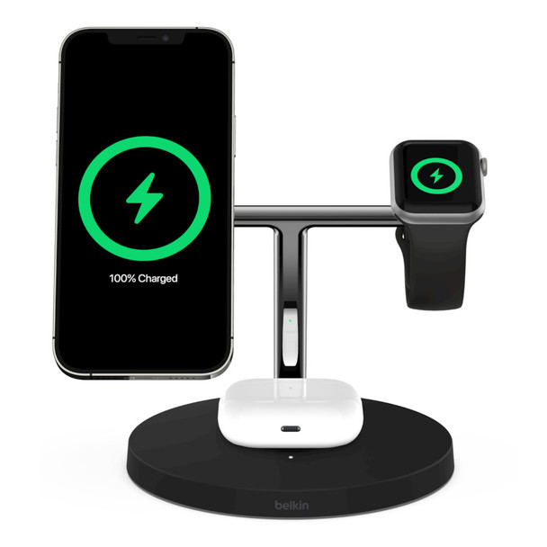 Belkin Boost Charge 3-in-1 Wireless Charger with MagSafe 15W - Black