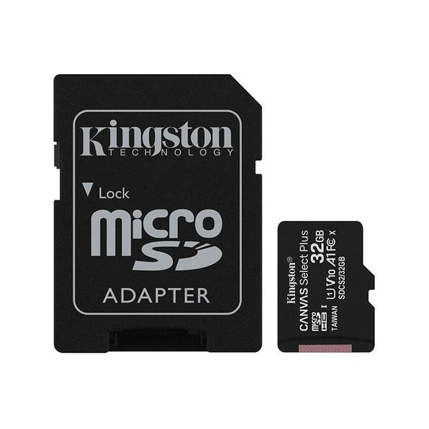 Kingston 32GB Canvas Select Plus Class 10 UHS-I microSD Memory Card - 100MB/s Main Product Image