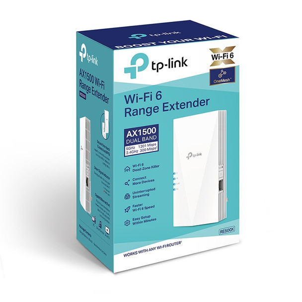 TP-Link RE500X AX1500 Wi-Fi Range Extender Product Image 3