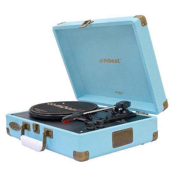 Mbeat Woodstock II Vintage Bluetooth Stereo Turntable - Blue Main Product Image