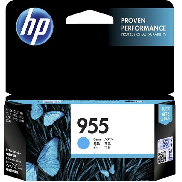 Product image for HP 955 Cyan Ink Cartridge