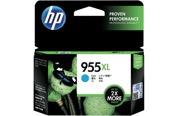 Product image for HP 955Xl Cyan Ink Catridge