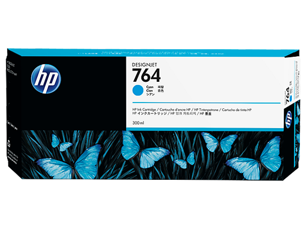 Product image for HP 764 300-Ml Cyan Ink Cartridge C1Q13A - T3500