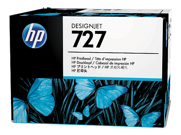 Product image for HP 727 Black-Cyan-Magnet-Yellow Print Head - T920/T930/T1500/T1530/T2500/T2530/T3500/T1600