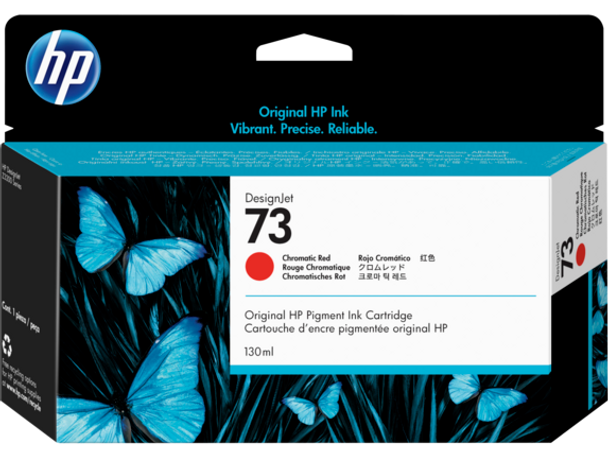 Product image for HP 73 130-Ml Chromatic Red Ink Cartridge - Z2100/3100/Z3200