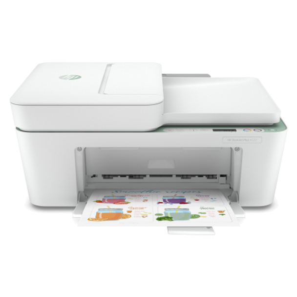 Product image for HP DeskJet Plus 4122 All-In-One Printer. Wireless Print - Scan - Copy. 35 Page Auto Feeder.