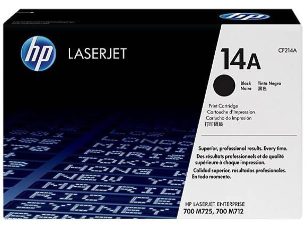 Product image for HP 14A Black LaserJet Toner Cartridge
