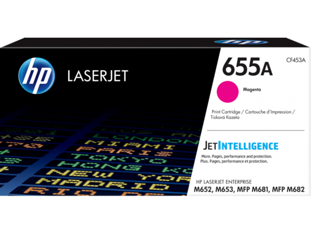 Product image for HP 655A Magenta Toner - Approx 10.5K Pages - M652 - M653 - M681 - M682 Compatible