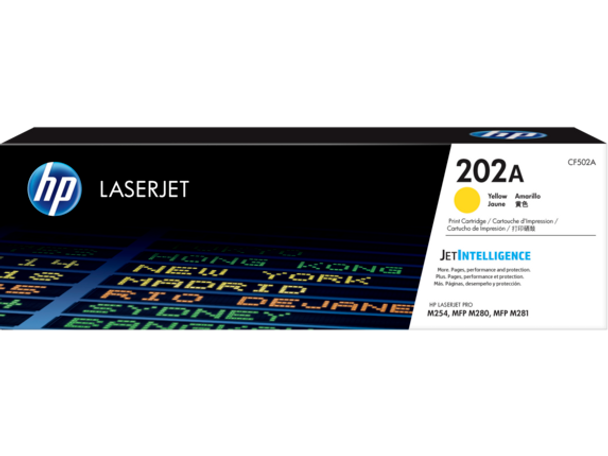 Product image for HP 202A Yellow Toner - M254 - M280 - M281 Compatible Printers