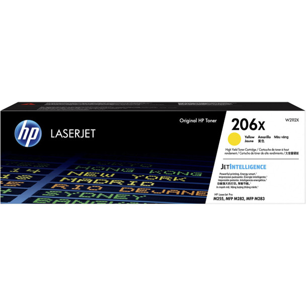 Product image for HP 206X Yellow Toner - High Yield - Approx 2.45K Pages - For M283 - M255 Printers
