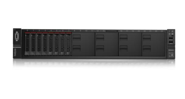 Lenovo ThinkSystem SR650 (1/2x Xeon Bro 3204 6C/6T 1.9GHz, 1/24x 16GB, 8/24x SFF HS, 530-8i 0GB RAID, 0x Network, XCC Ent, 1/2x 750W, 3 Yr Ltd Wty) Main Product Image