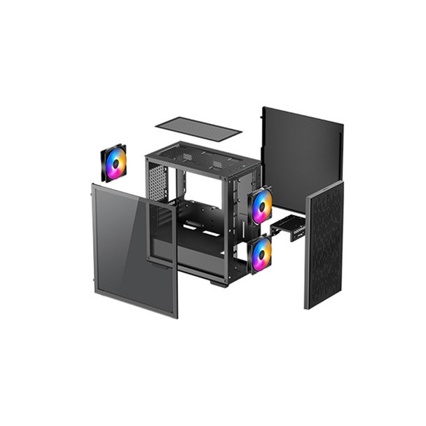 Deepcool Matrexx 40 3FS Tempered Glass Micro-ATX Case Product Image 3