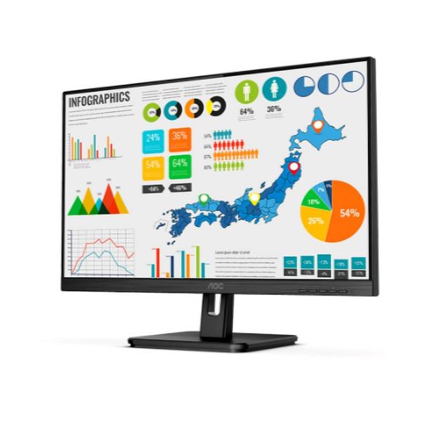 AOC 24E2QA 23.8in IPS 4ms Full HD Multimedia Monitor Product Image 2