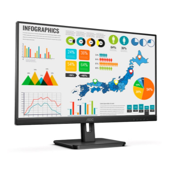 AOC 24E2QA 23.8in IPS 4ms Full HD Multimedia Monitor Product Image 3