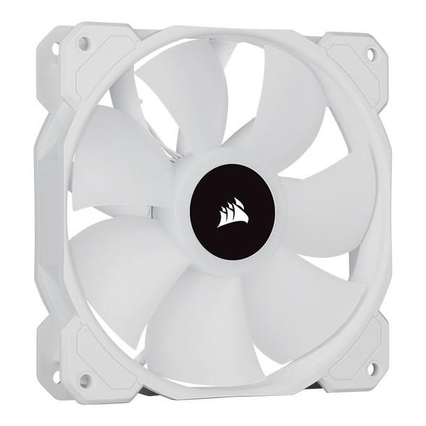 Corsair iCUE SP120 RGB ELITE White 120mm PWM Fan - 3 Pack + Lighting Node CORE Product Image 3