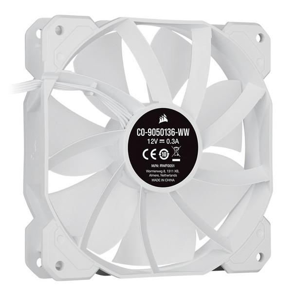 Corsair iCUE SP120 RGB ELITE White 120mm PWM Single Fan Product Image 3