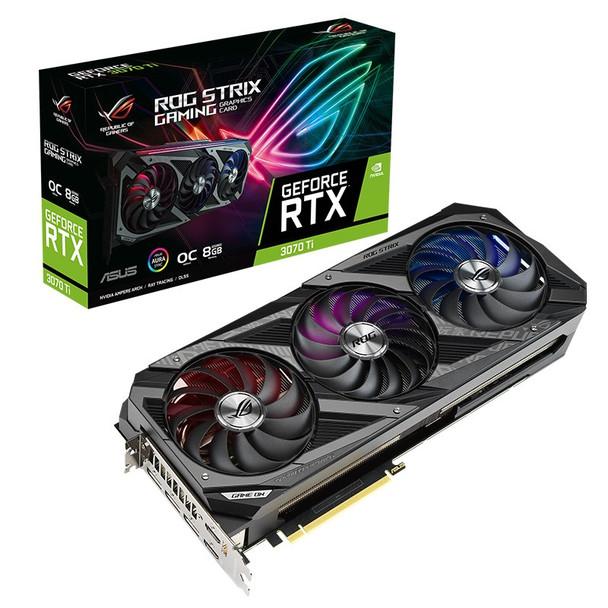 Asus GeForce RTX 3070 Ti ROG Strix OC 8GB Video Card Main Product Image