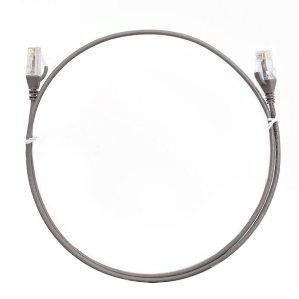 4Cabling 0.75m Cat 6 RJ45 RJ45 Ultra Thin LSZH Network Cable   - Grey Main Product Image