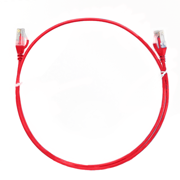 4Cabling 0.15m Cat 6 RJ45 RJ45 Ultra Thin LSZH Network Cable   - Red Main Product Image