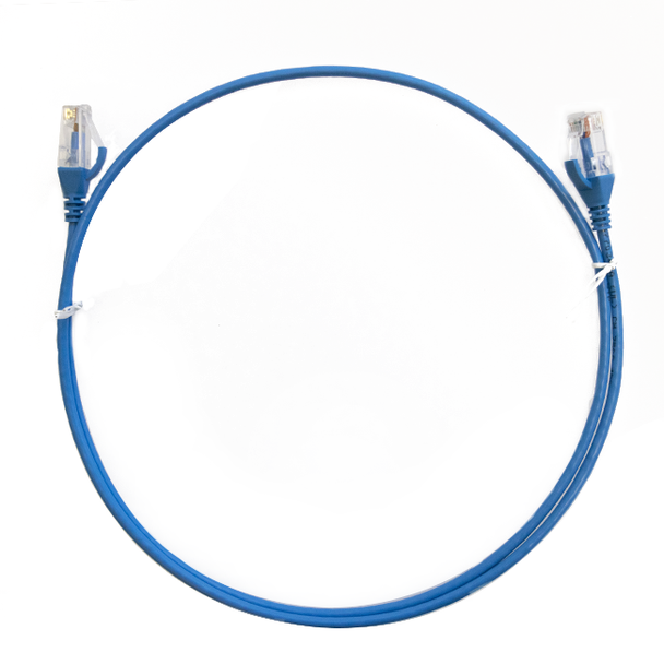 4Cabling 0.75m Cat 6 RJ45 RJ45 Ultra Thin LSZH Network Cable   - Blue Main Product Image