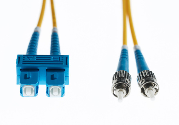 4Cabling 2m SC-ST OS1 / OS2 Singlemode Fibre Optic Cable  - Yellow Main Product Image
