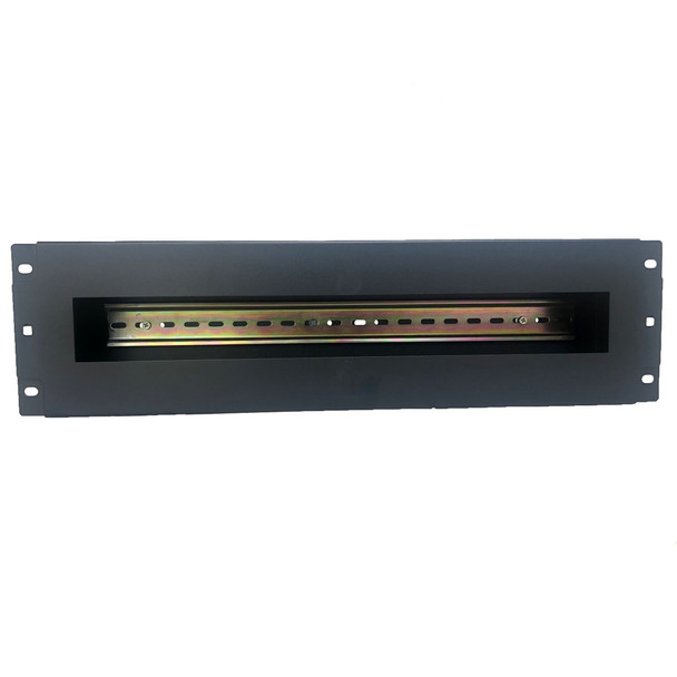 4Cabling 3RU Rack Mount DIN Rail Panel Bracket with Cover Main Product Image