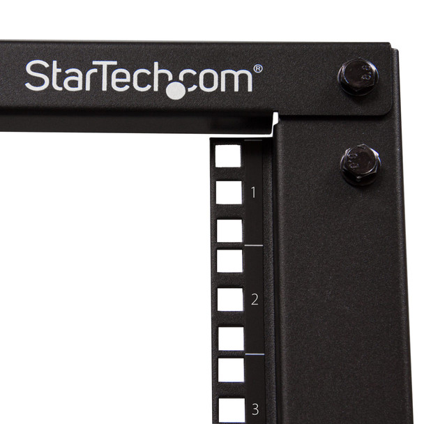 StarTech 15U 19in Open Frame Server Rack - 4 Post Adjustable Depth 23-41in Mobile -  Product Image 2