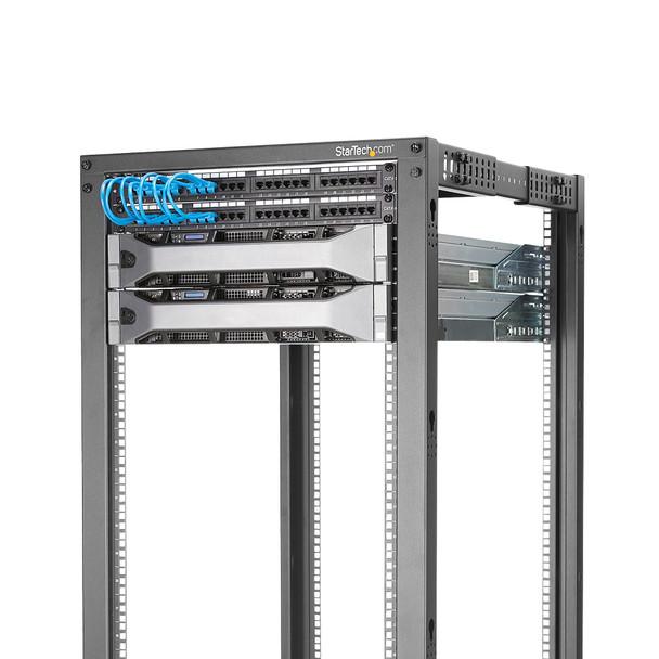 StarTech 15U 19in Open Frame Server Rack - 4 Post Adjustable Depth 23-41in Mobile -  Product Image 4