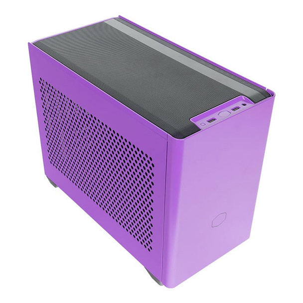 Cooler Master MasterBox NR200P Tempered Glass Mini-ITX Case - Nightshade Purple Main Product Image